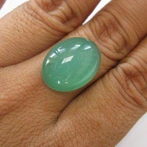 Greyish Green Chalcedony 15.50 carat