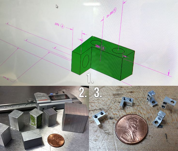 Small CNC machining for microelectronics using Haas VF2 Mill Delta Radar