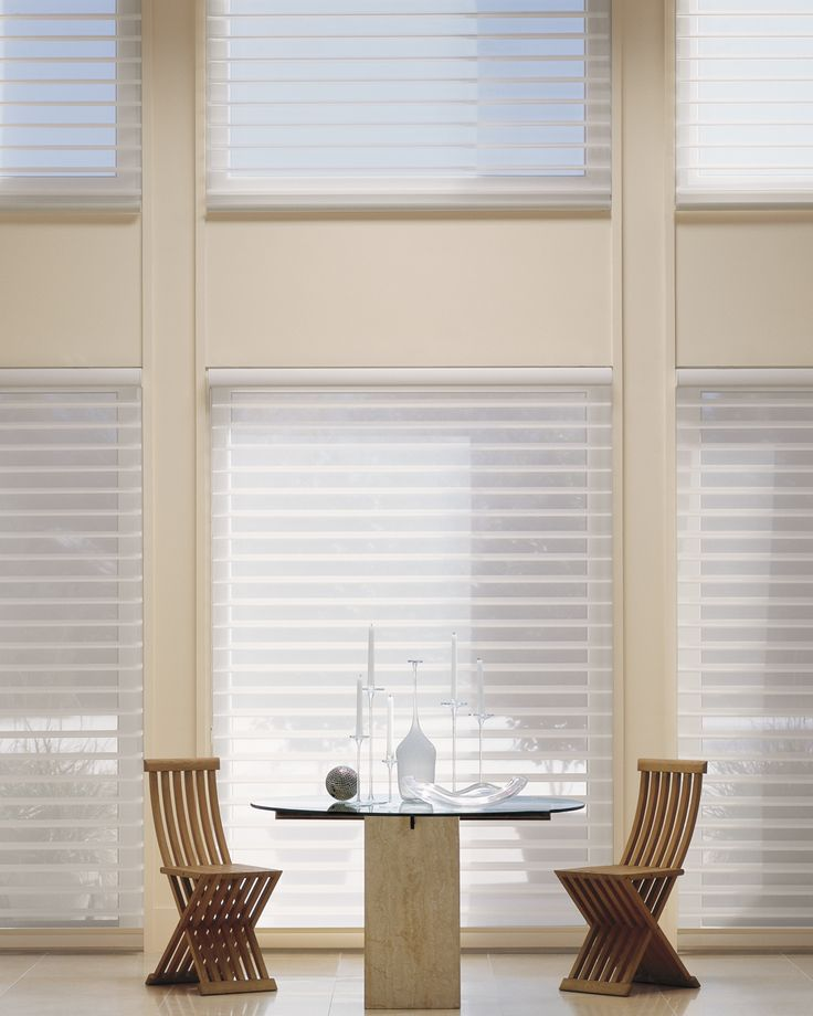 67 best dining rooms window coverings images on for Simple window treatments for large windows