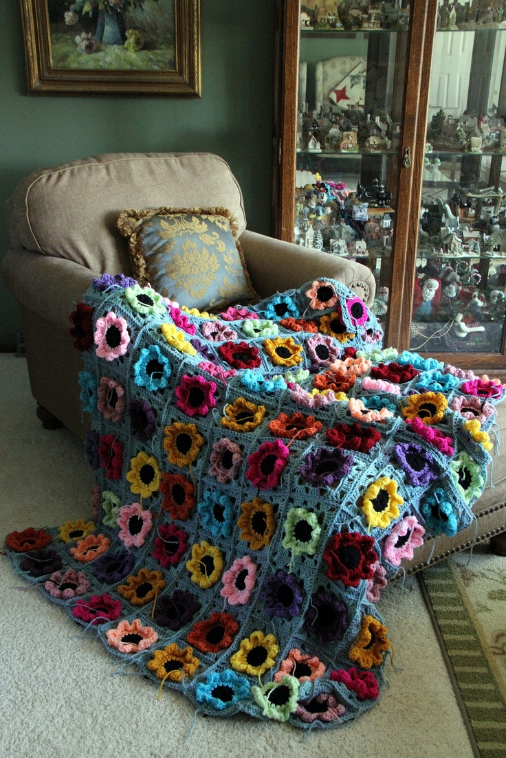 Old Fashioned Rose Crochet Afghan Pattern Picture Collection - Easy ...