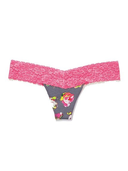 Victoria's Secret PINK Lace Trim Thong Panty 7/$26! (Cute prints, great stocking stuffers!)