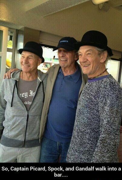So Captain Picard, Spock, and Gandalf walk into a bar...