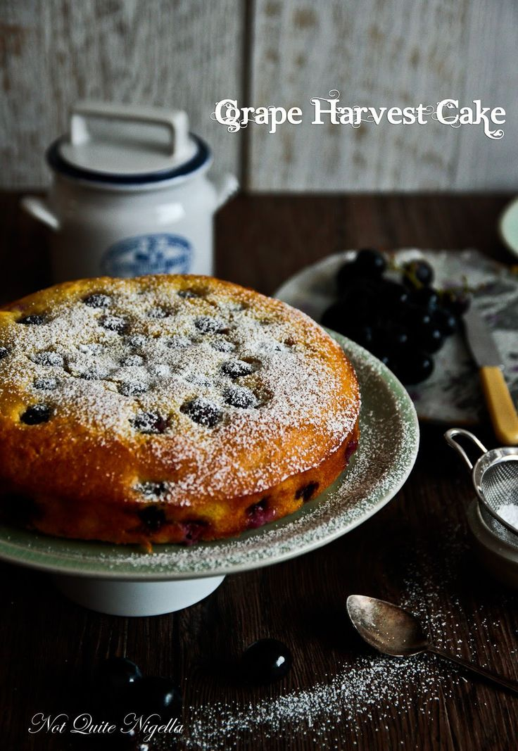 Grape Harvest Cake @ Not Quite Nigella