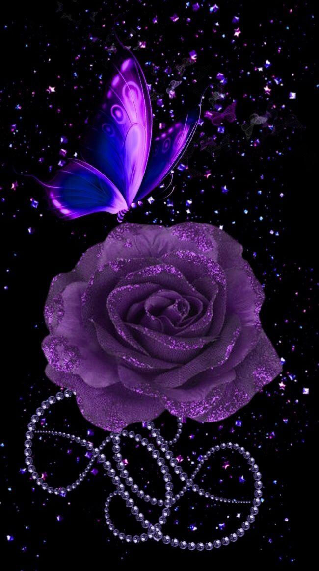Wallpaper By Artist Unknown In 2021 Purple Roses Wallpaper Flower Phone Wallpaper Purple Art