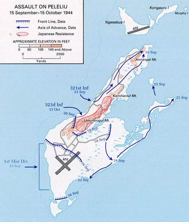 Battle of Peleliu WW II 9-15-1944--10-15-1944 The battle was officially known as Operation Stalemate II but the survivors still call it The Forgotten Battle. It was one of the last big Pacific battles of World War II and one of the bloodiest. Even the names associated with this small coral strip of land in the Palau islands sound hostile and discordant: Bloody Nose Ridge, the Pocket, Five Sisters, Five Brothers or the China Wall.