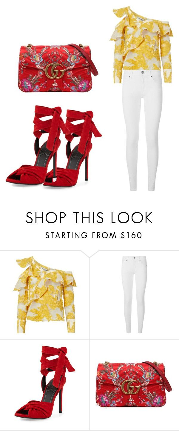 """""""r/y"""" by mbaileydesigns on Polyvore featuring self-portrait, Burberry, Kendall + Kylie and Gucci"""