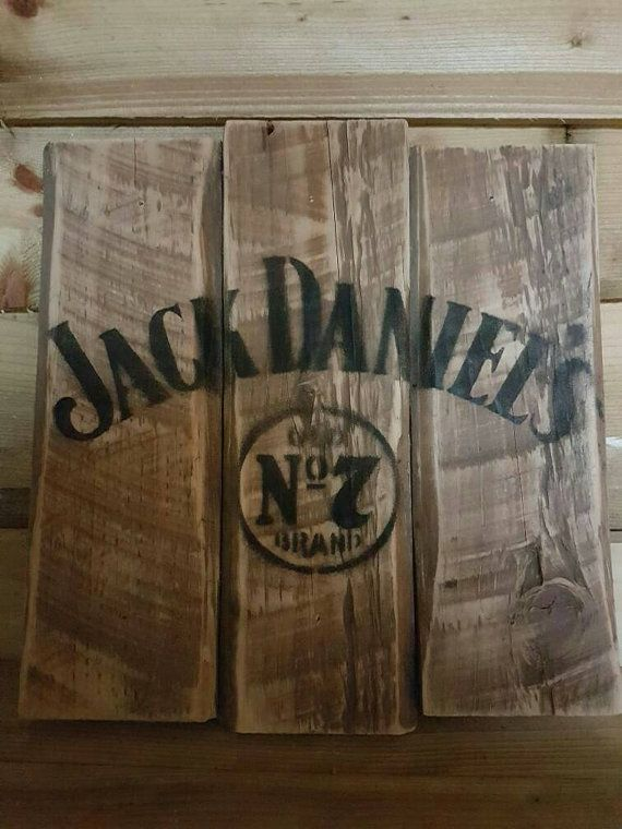 Jack Daniels Sign Upcycled From Reclaimed Wood  wood