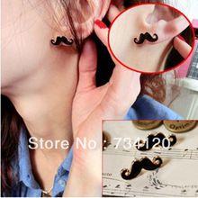 Es011 Mix jóia por atacado baratos 2015 novo presente hot moda Mini Vintage bigode bigode barba Stud brincos grátis frete(China (Mainland))