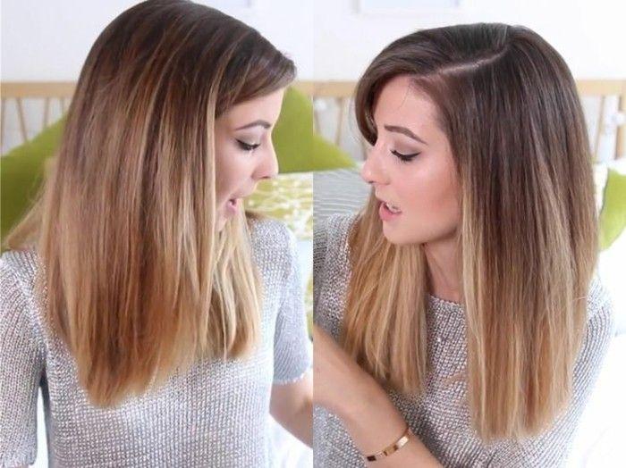 cheveux-balayage-sur-brune-coloration-caramel-zoella