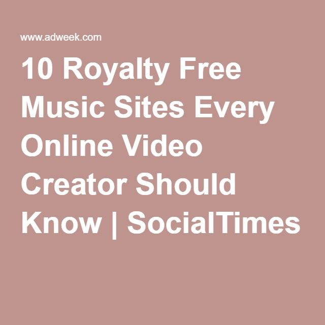 10 Royalty Free Music Sites Every Online Video Creator Should Know   SocialTimes