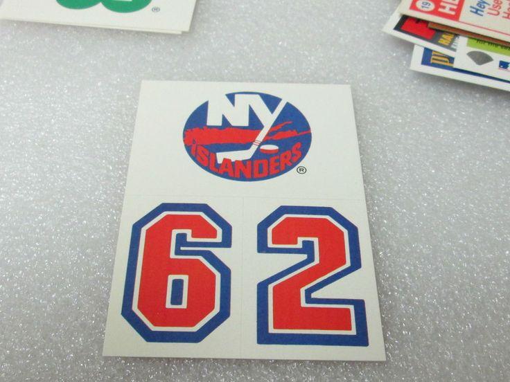 """TOPPS '89 NEW YORK ISLANDERS """"HOCKEY HELMET STICKERS"""" CARD! NHL NUMBERS 6 & 2 NM #NewYorkIslanders"""