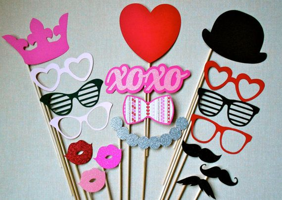 Valentine S Day Photo Booth Props Hy Glitter