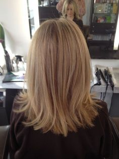 womens hairstyles mid length layered back view - Google Search