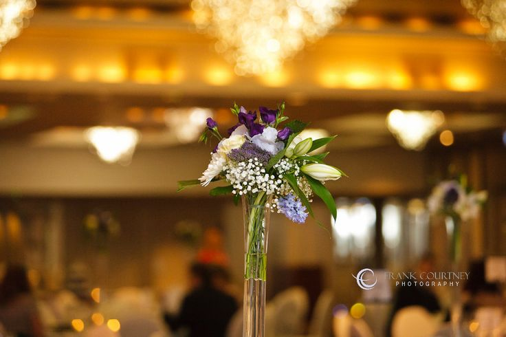 Floral detail from the reception