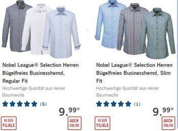 """Lidl: Bügelfreie Business-Hemden von Seidensticker-Tochter für 9,99 Euro https://www.discountfan.de/artikel/klamotten_&_schuhe/lidl-buegelfreie-business-hemden-von-seidensticker-tochter-fuer-999-euro.php Verkauft werden sie unter dem Label """"Nobel League"""", die Firmenadresse auf der Verpackung ist aber identisch mit der von Seidensticker: Bei Lidl sind ab sofort bügelfreie Business-Hemden in zahlreichen Größen und vier Farben für 9,99 Euro zu haben. Lidl: B�"""