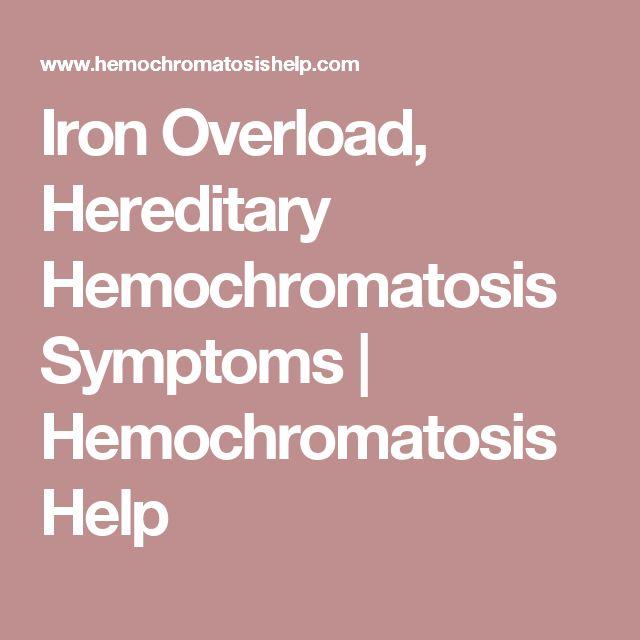Hereditary Hemochromatosis Symptoms