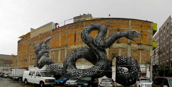 street art: a serpente