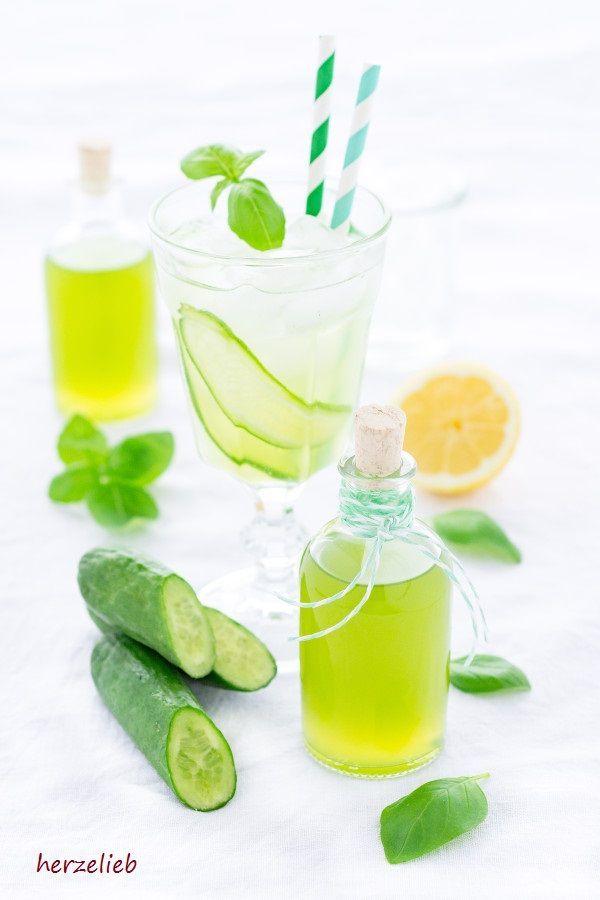 Gurkensirup, ein Rezept von herzelieb - lecker für Cocktails und Drinks. Super erfrischend!