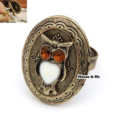 Korean Personality Vogue Retro OWL Opened Design Delicate Ring General  Small and catchy. REPIN if you like it.😍 Only 26 IDR