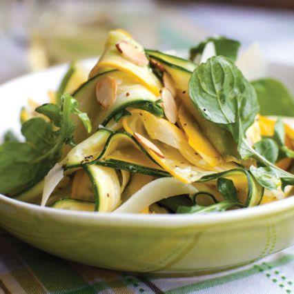 Recipes | Summer Squash Carpaccio with Arugula, Pecorino, and Almonds | Sur La Table