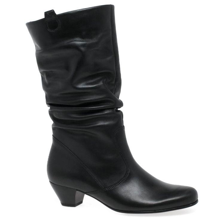 Gabor Rachel Leather Wide Calf Boots