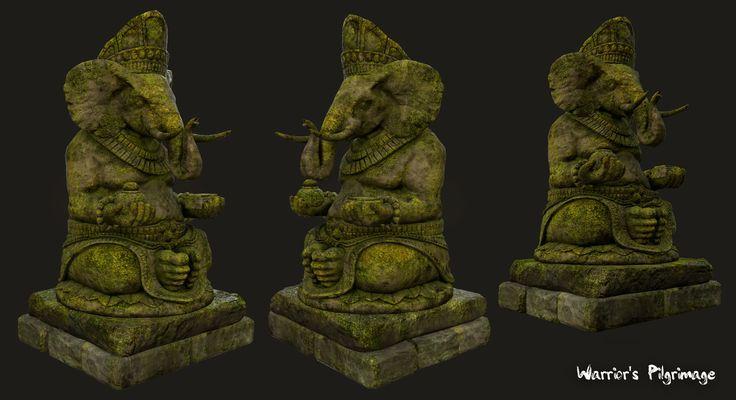 Hero Statue Sculpts ( Project Warrior's Pilgrimage ), Audrey wong on ArtStation at https://www.artstation.com/artwork/bJYmd