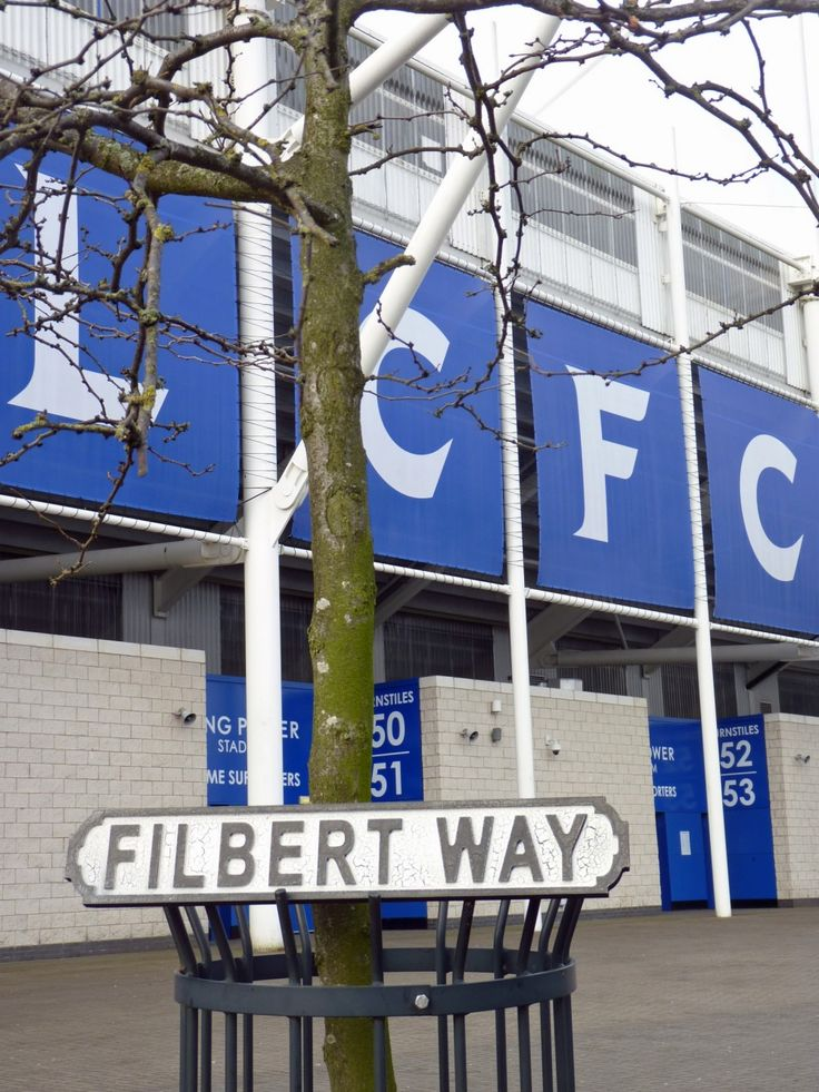 Leicester City FC vintage road sign - FILBERT WAY - exclusive to us | Pomponette | Leicester #LCFC #Leicester #Leicestercity #filbertway #kingpower #premierleague