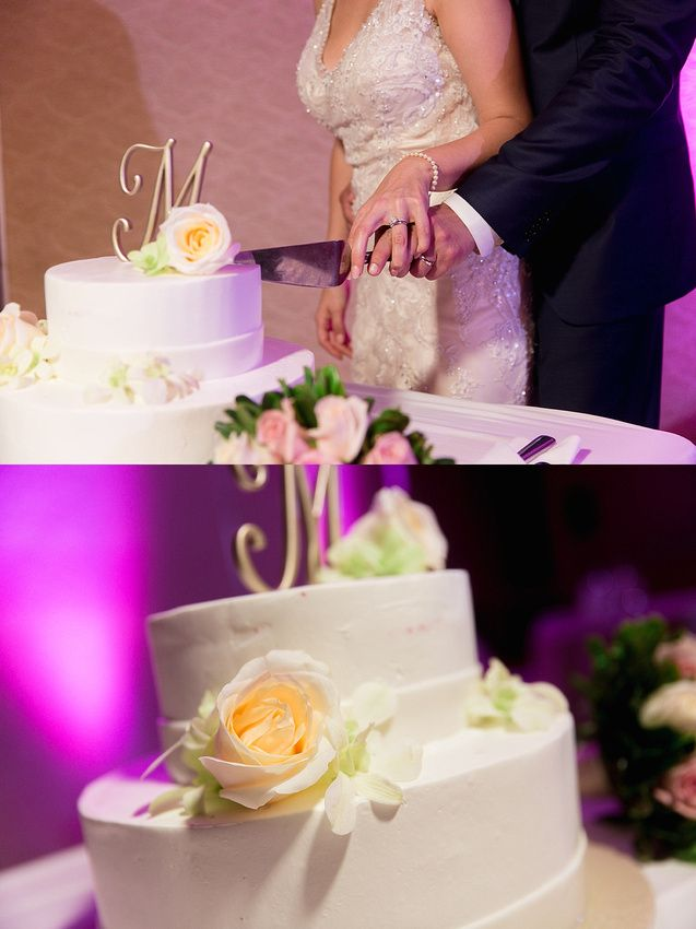 A romantic white cake for this Moon Palace Cancun #destinationwedding