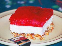 strawberry pretzel jello dessert paula deen | Recipes From The Heart Of