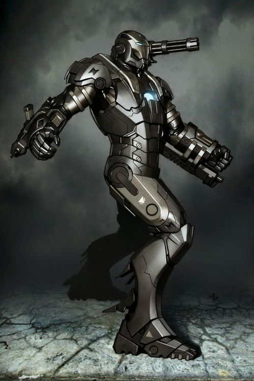 War Machine by Adi Granov. Granov really knows how to capture the solidity of metal!