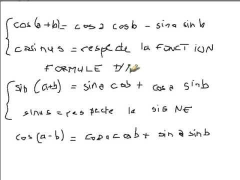Comment apprendre et retenir les formules d'addition et de duplication e...