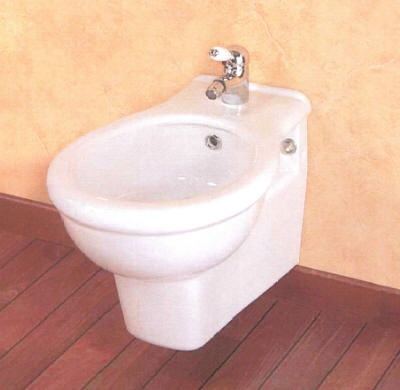 Square Wall Hung Bidet with 560mm Projection