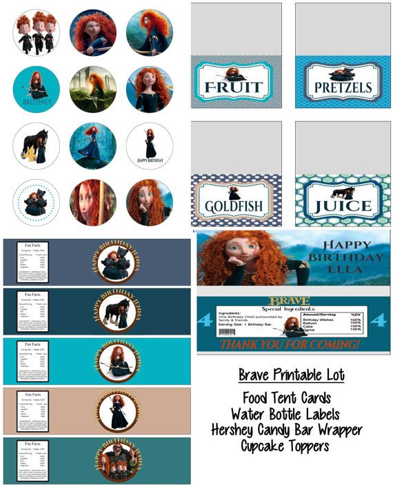 Disney Pixar Brave Merida Birthday Party by KrittsKreations, $15.00