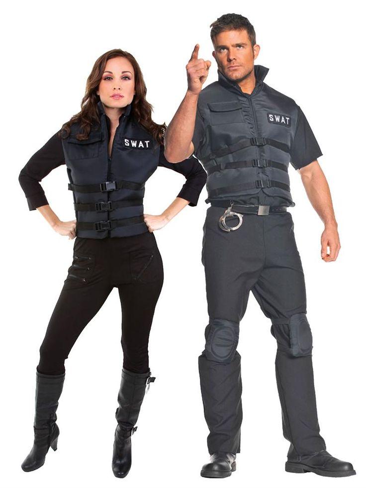 SWAT Couples Costume, Couples Halloween Costumes, Underwraps