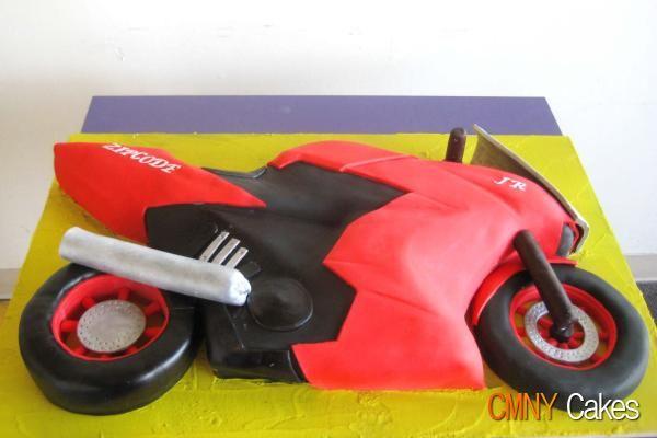 Kawasaki Ninja Motorcycle Cake by CMNY Cakes, via Flickr