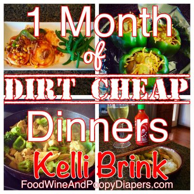 An entire month of meal plans with recipes, photos, and shopping lists? Sounds like winning. Food, Wine & Poopy Diapers