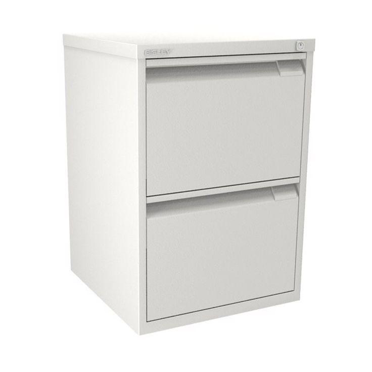 Unique Bisley White Filing Cabinet