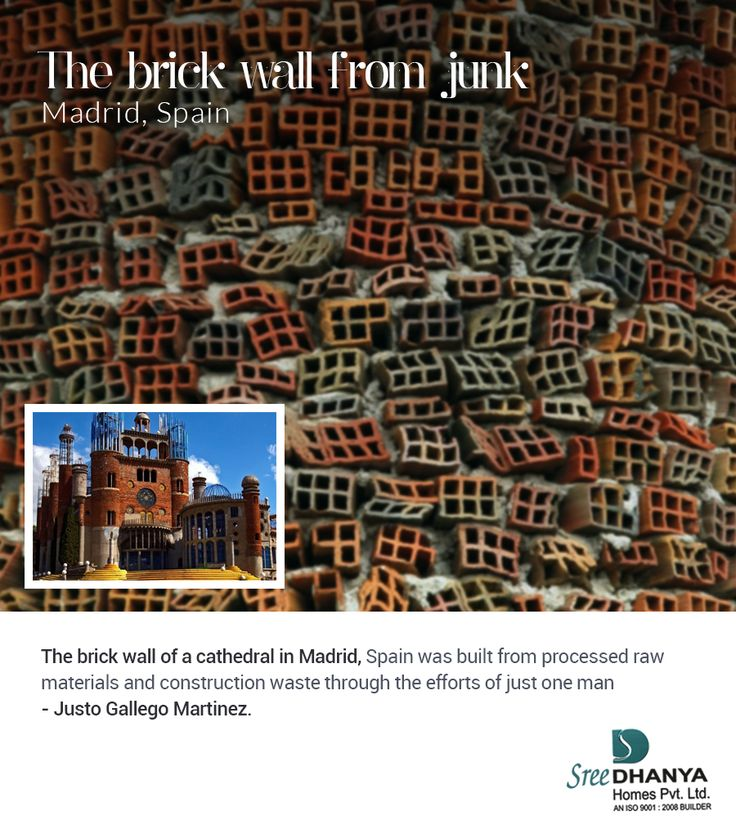 The Brick Wall From Junk #JustoGallegoMartinez #Madrid #Spain #Architecture