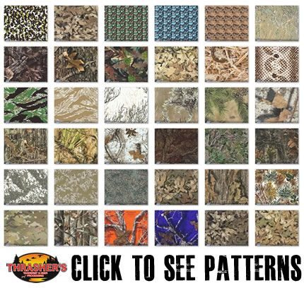 Camo Dipping Patterns