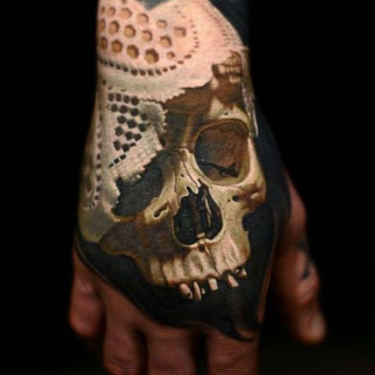 Nikko Hurtado - Memento Mori tattoo. Stupefying juxtapose.