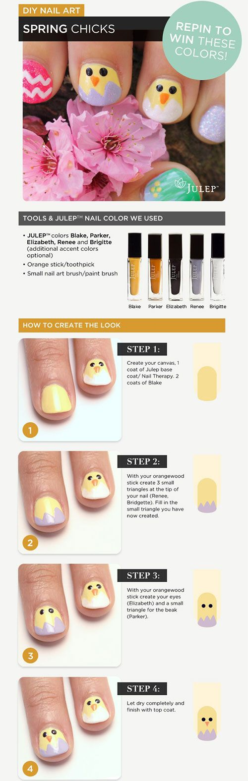 33 best Step By Step Easter Nail Art Tutorials images on Pinterest ...