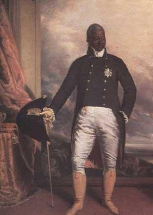Painting of Henri Christophe, First King of the Republic of Haiti (b. October 8, 1767 – d. October 8, 1820).