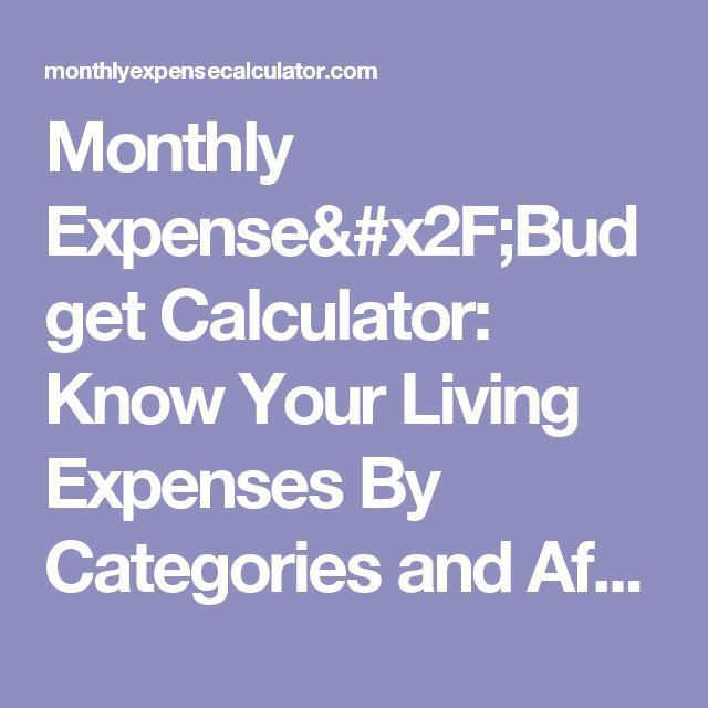 Melhores Ideias De Monthly Expense Calculator No