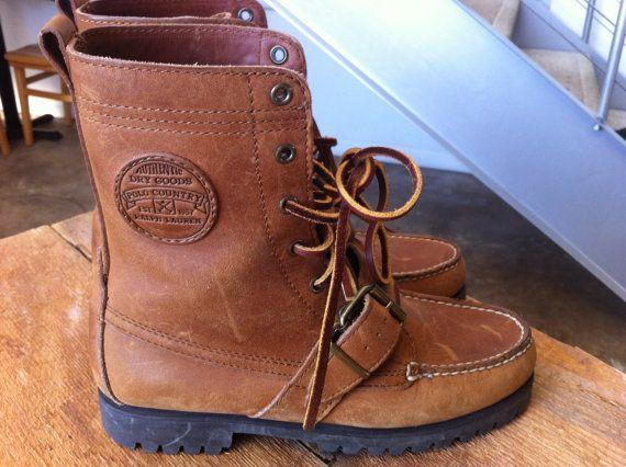 ralph lauren brown sneakers vintage rugby polo