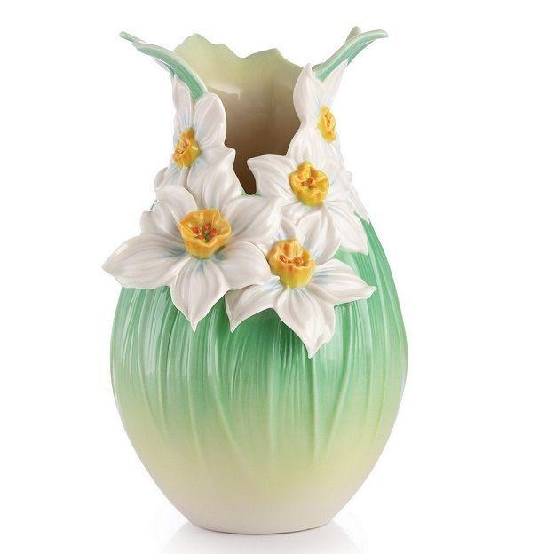 Narcissus Vase   Divine Blessings   Porcelain   Franz Collection