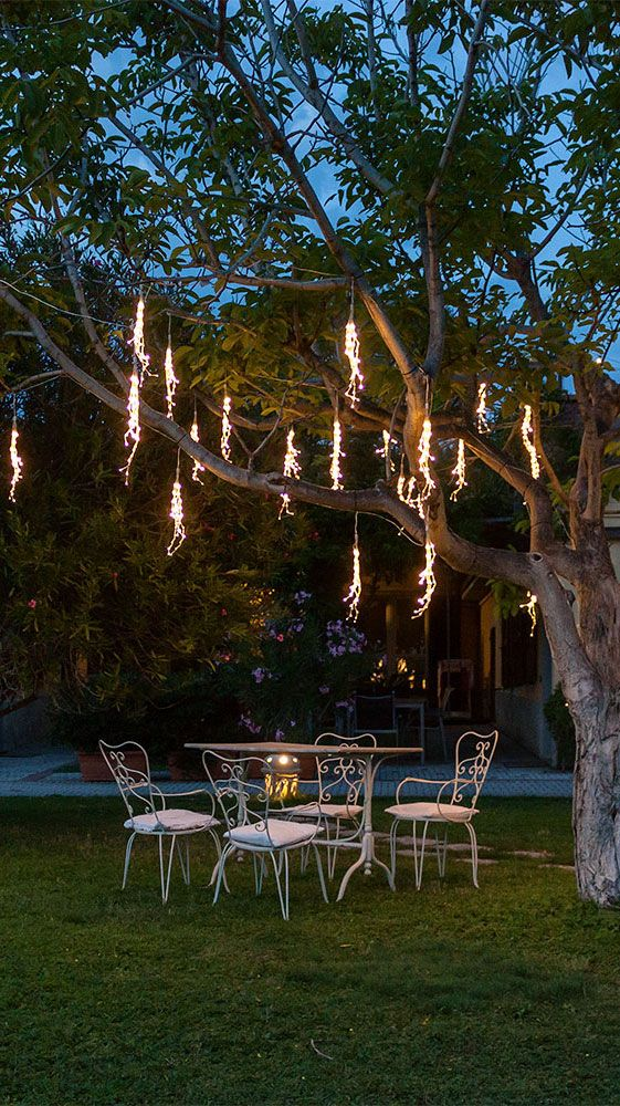 Decorazioni luminose per per una pianta del giardino