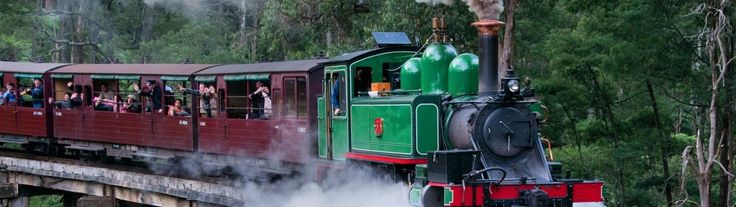 The Puffing Billy is a historic steam train that starts at Belgrave and runs through the mountainous Dandenong Ranges. Buy your tickets online & save!