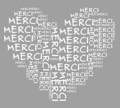 """merci de tout coeur - Alle kinderen schrijven op een doek in de vorm van een hart """"dank je wel"""" en onderaan schrijf je """"uit heel ons hart"""""""