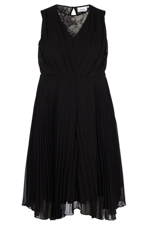 136f872ddb52 Μαύρο midi πλισέ φόρεμα