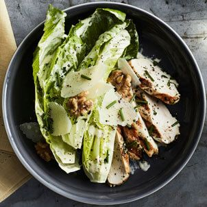 This lemony chicken caesar salad recipe can be easily prepared indoors using an electric grill or stovetop grill pan.